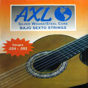 AXL Bajo Sexto Strings Cuerdas Silver Wound Loop End 12-String Set PG-950 - Ant Hill Music