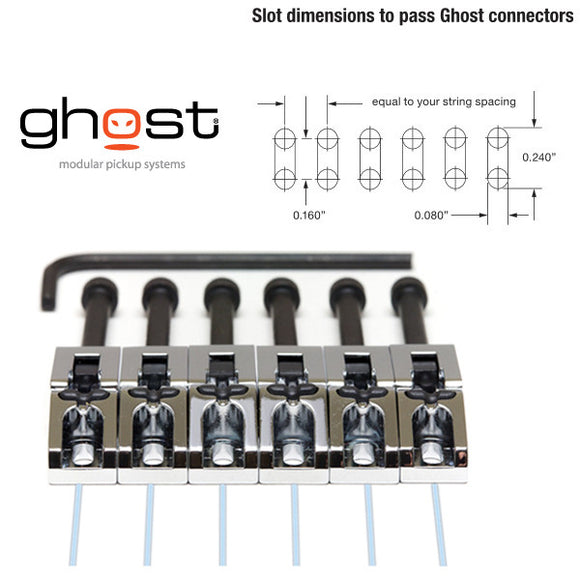 Graph Tech GHOST Loaded Floyd Rose Guitar Saddles Chrome Qty 6 - PN-0080-C6 - Ant Hill Music