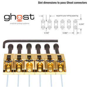 Graph Tech GHOST Loaded Floyd Rose Guitar Saddles Gold Qty 6 - PN-0080-G6 - Ant Hill Music