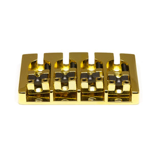 Graph Tech - Ghost Loaded Hipshot A Style Bass Guitar Bridge - 4 String - Gold - Ant Hill Music