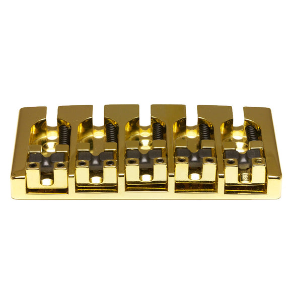 Graph Tech - Ghost Loaded Hipshot A Style Bass Guitar Bridge - 5 String - Gold - Ant Hill Music