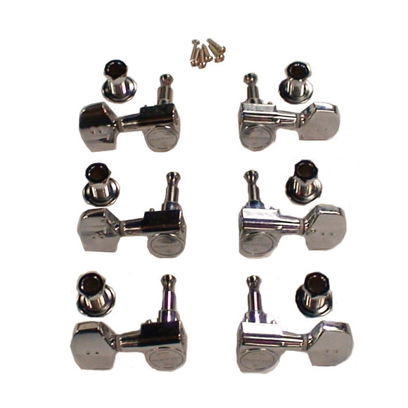 Graph Tech Ratio Tuned Machine Heads 3+3 Acoustic 2 Pin Contemporary PRN-2411-C0 - Ant Hill Music
