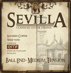 Cleartone Sevilla Classical Guitar Strings - Ball End - Medium - 28-42 - 1 Pack