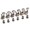 Gotoh SGM Series 6 in-line Left Handed Tuning Machines Standard Post in Chrome