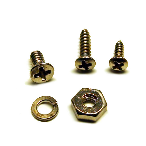 WD Music Mounting Screws for LP Style Pickguard Mounting Bracket Chrome SKJP40C