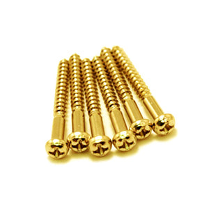 Electric Guitar Strat Tremolo Bridge Mounting Screws Gold - Qty 6 - Ant Hill Music