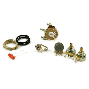 WD Music Fender 3-Way Strat Wiring Kit Diagram,wiring,parts included NO Knobs