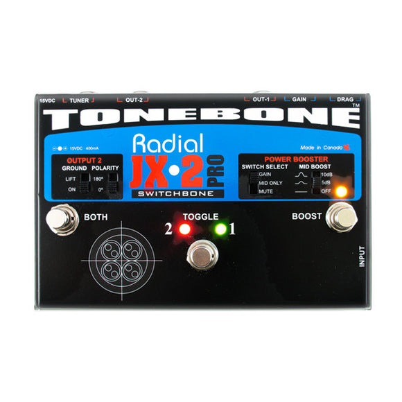 Radial SWITCHBONE - ABY Amp Selector - Variable Power Boost - Load Correction - Ant Hill Music