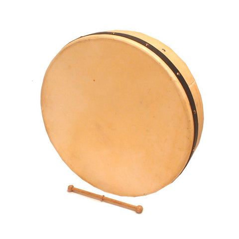 Tyler Mountain 18 inch Bodhran Natural Finish Goat Skin Head TB7