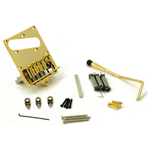 Trem King Vibrato Telecaster Fixed Guitar Bridge Tele Tremolo Bridge Gold TKS-2