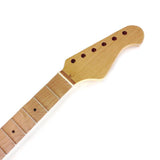 Electric Guitar Neck Bolt On 22 Fret Med Jumbo 9.5 Radius All Maple Guitar Neck