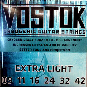 Vostok - Cryogenic Electric Guitar Strings - Made in USA - Extra Light  - 09-42 - Ant Hill Music