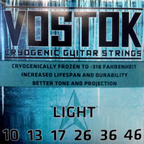 Vostok - Cryogenic Electric Guitar Strings - Made in USA - Light Gauge - 10-46