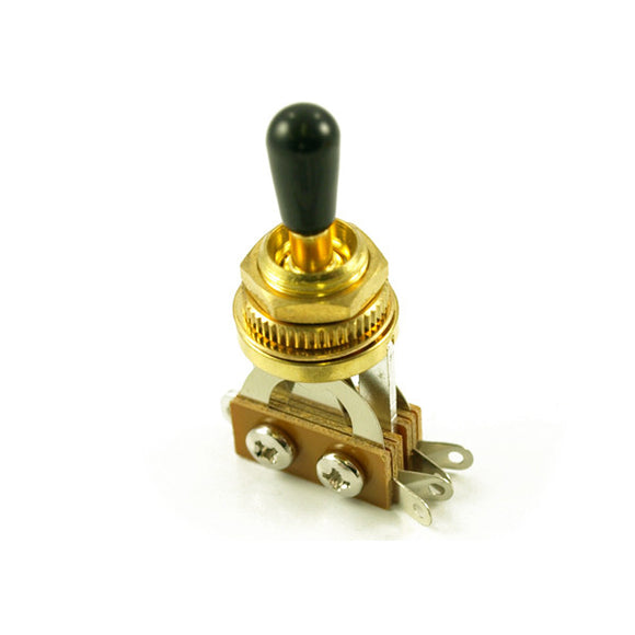 WD Music LP Style Guitar Toggle Switch Gold/Black Switch Tip Hardware inc WDE7G - Ant Hill Music