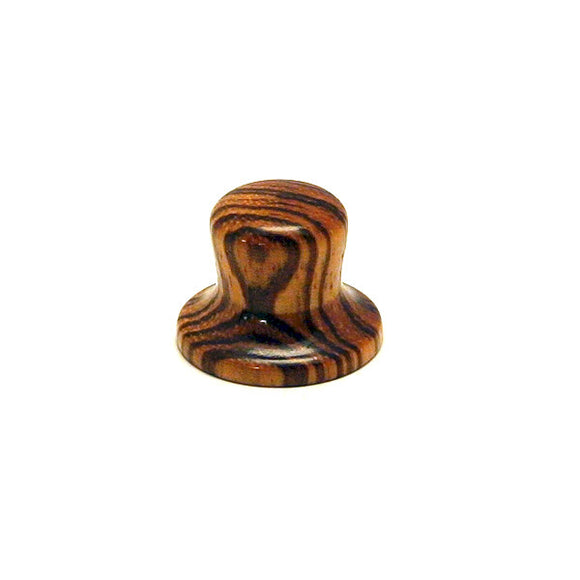 Ant Hill Music Wooden Guitar Knob Top Hat Style with Spalted Zebra Grain Pattern - Ant Hill Music