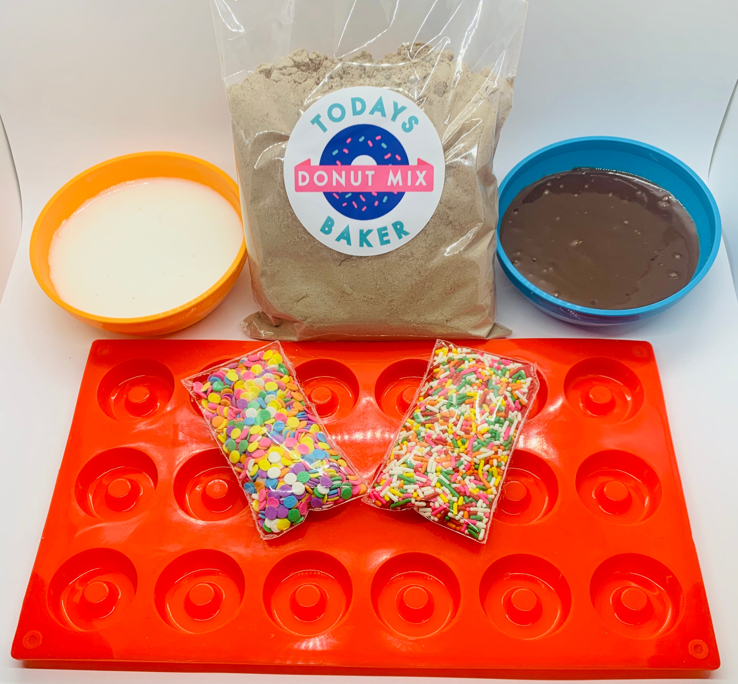 Chocolate Mini Cake Donut Kit - TODAYS BAKER