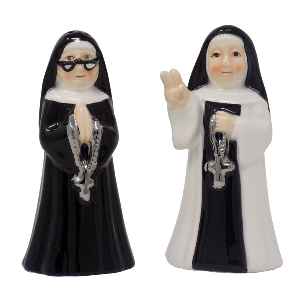 Nuns Salt & Pepper Shakers