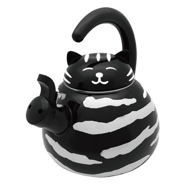 Black Cat Whistling Tea Kettle