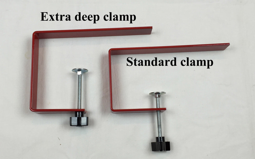 Extra deep table clamp