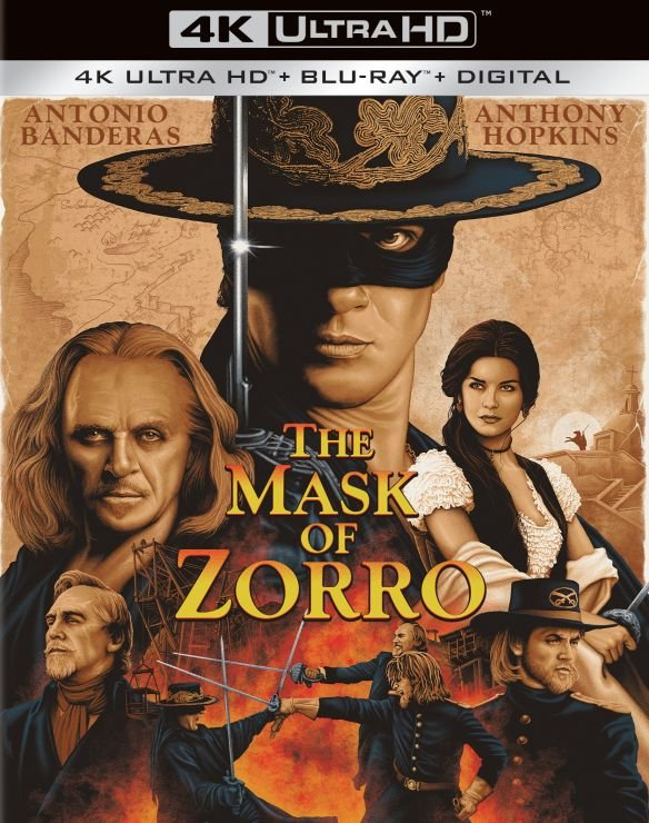 The Mask of Zorro 4k