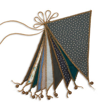 Load image into Gallery viewer, numero 74 bunting garland - mix blue