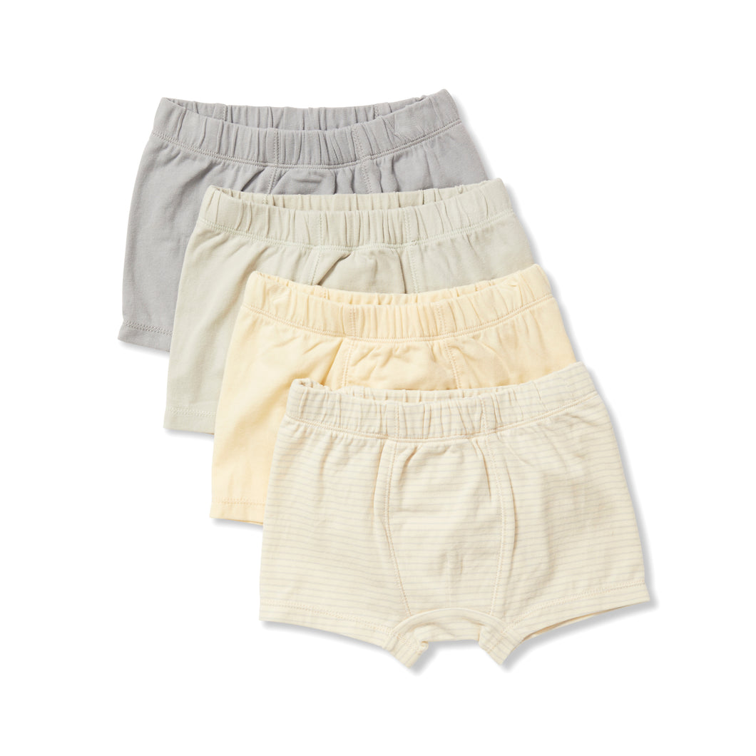 konges 4 pack boxers - lemon/mint