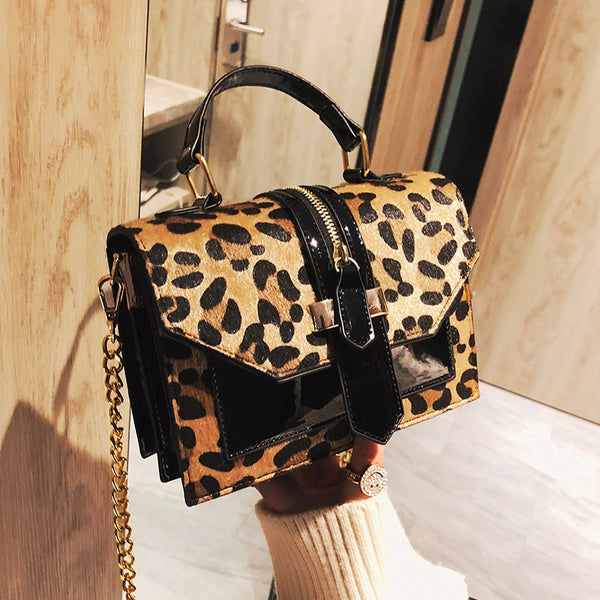 Ariella Luxury Leopard PU Leather Bag