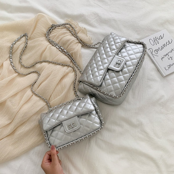 Evianna Luxury Plaid Chain Bag