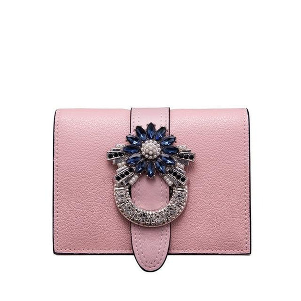 Monaveen Luxury Designer Diamonds Short Purse
