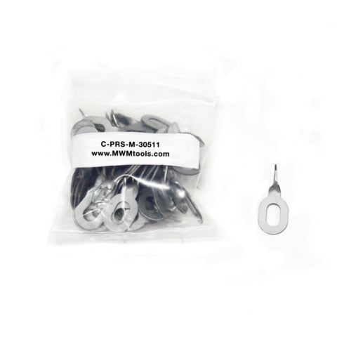 "C-PRS-01-30511 - Twisted Washer ""Keys"" for Welding - Steel Dent Repair (50 PACK)"