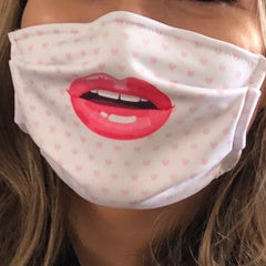 Womens Lips Face Mask