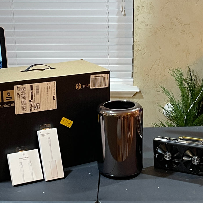 Unboxing and Installing eGPU on Mac Pro 2013 Trash Can running Mac OS Big Sur