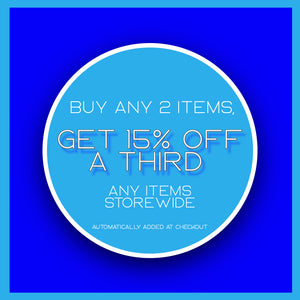 Buy 2 Items, Get 15% Off A Third