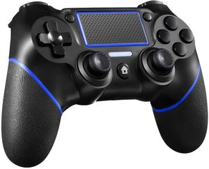 PS4 Controller Wireless Controller for Playstation 4 with Motion Motors Mini LED Indicator (Black)