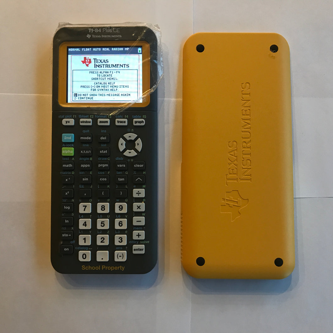 Texas Instruments TI-84 Plus CE Graphing Calculator Color Screen YELLOW #101