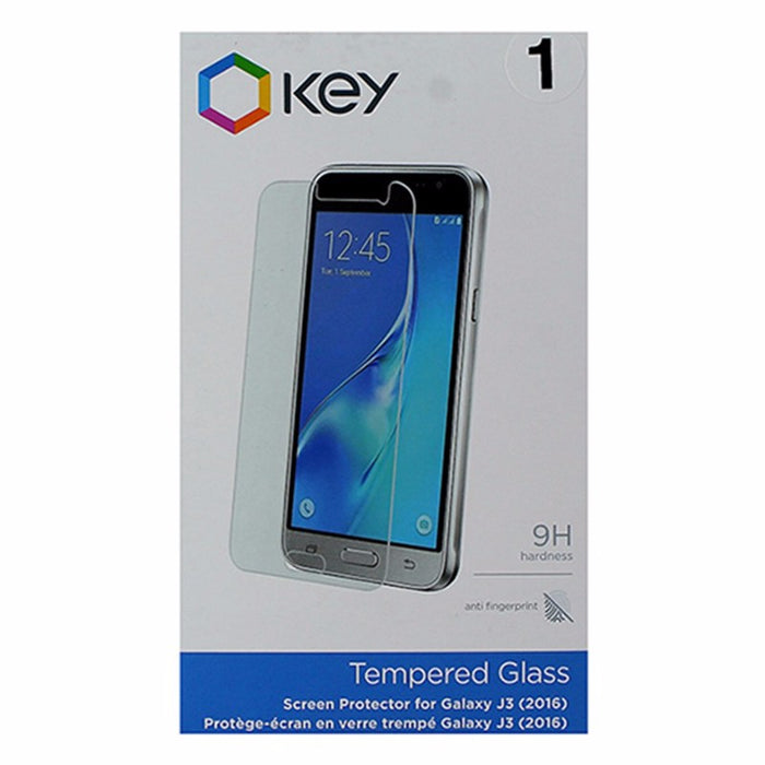 Key 9H Tempered Glass Screen Protector for Samsung Galaxy J3 - Clear