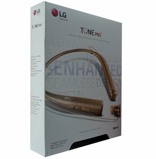 LG Tone Pro HBS-780 Premium Wireless Stereo Neckband Bluetooth Headset - Gold - Macs Plus More