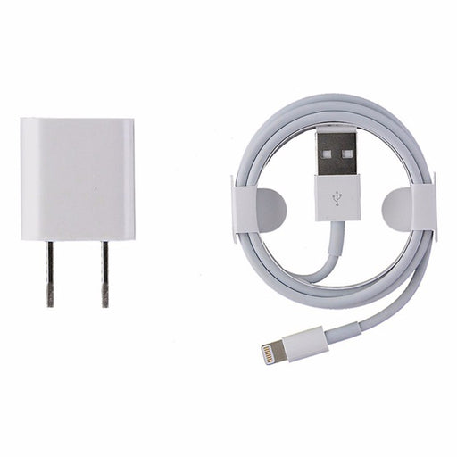 Apple MD818ZM/A Wall Charger & Cable for Lightning Devices - White - Macs Plus More