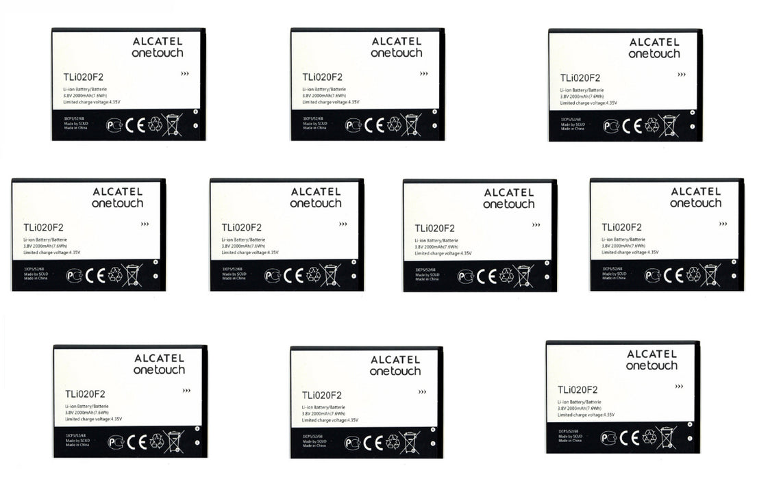KIT 10x Alcatel TLi020F2 2000 mAh Replacement Battery for One Touch Fierce/Chat - Macs Plus More