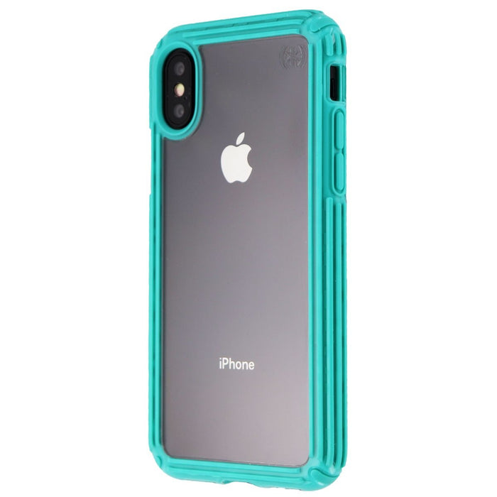 Speck Presidio V-GRIP Series Case for Apple iPhone XS / X - Clear/Caribbean Blue