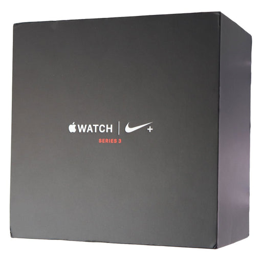 RETAIL BOX - Apple Watch Nike+ S3 38mm - Space Gray/ Mid Fog NO DEVICE - Macs Plus More