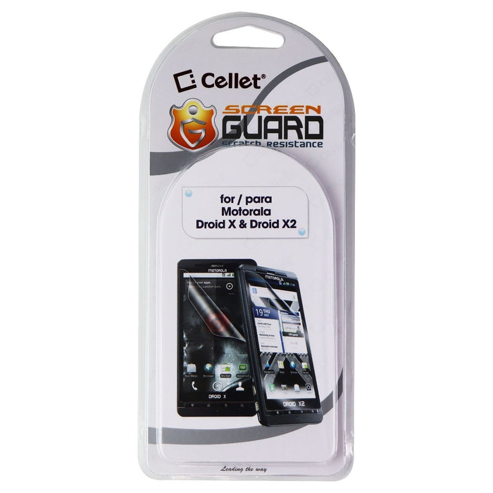 Cellet Screen Guard/Screen Protector for Motorola Droid X and Droid X2 - Clear - Macs Plus More