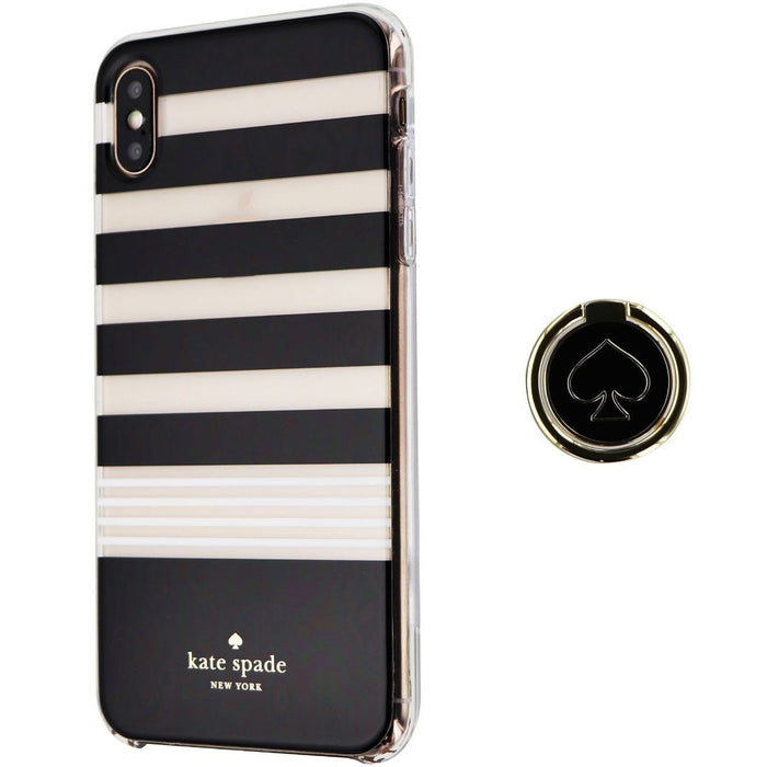 Kate Spade Hardshell Case and Ring Stand for iPhone XS Max - Clear/Black/White - Macs Plus More