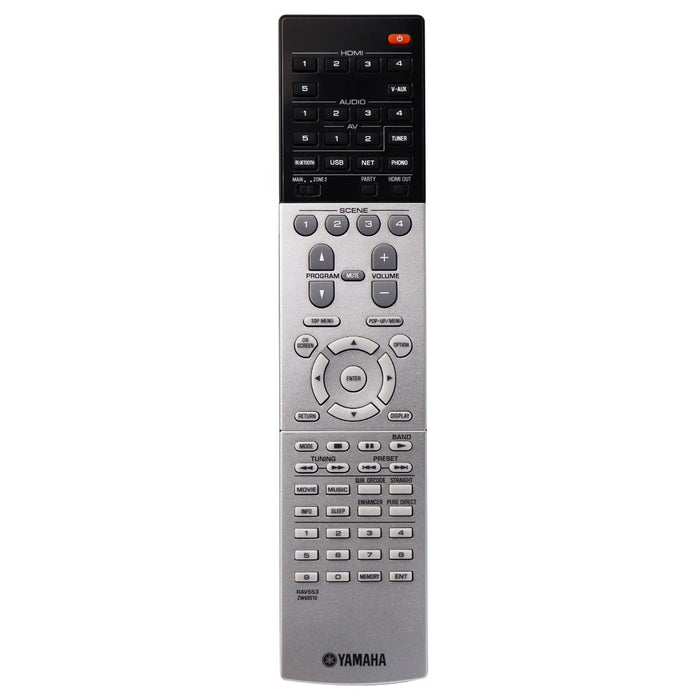Yamaha Remote (RAV553 ZW69510) for Select Yamaha AV Receivers - Black / Gray