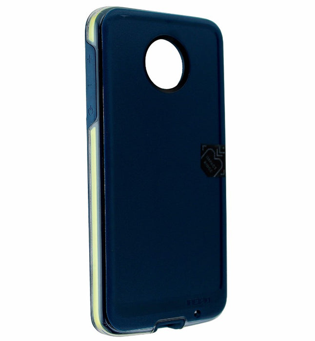 Incipio Performance Series Level 4 Case Cover for Moto Z Droid - Navy / Yellow