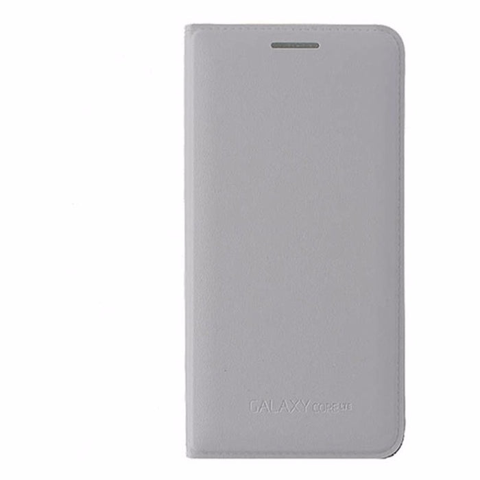 Samsung Wallet Flip Cover Case for Samsung Galaxy Core LTE - White - Macs Plus More