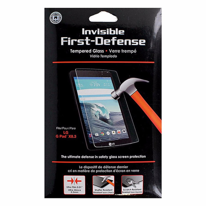 Qmadix Invisible First Defense Tempered Glass Screen Protector for LG G Pad 8.3 - Macs Plus More