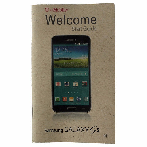Original Welcome Start Guide from T-Mobile for the Samsung Galaxy S5 Smartphone - Macs Plus More
