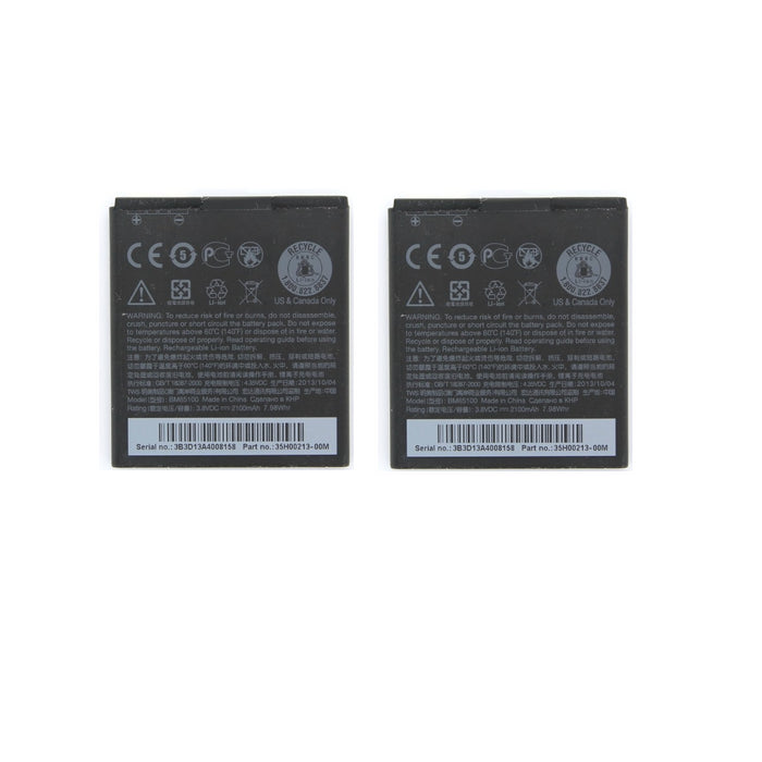 KIT 2x OEM HTC BM65100 2100 mAh Replacement Battery for HTC Desire 601 - Macs Plus More