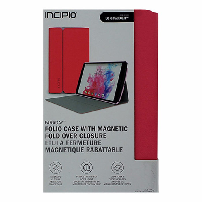 Incipio Faraday Folio Case for LG G Pad X8.3 - Pink / Gray - Macs Plus More